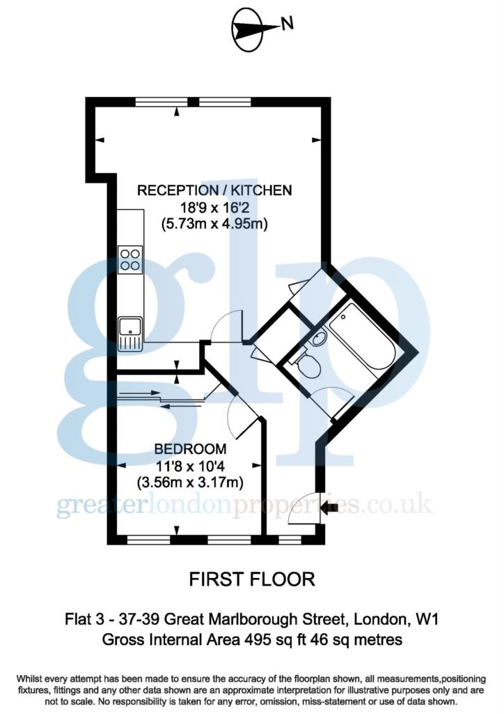 1 bedroom apartment great marlborough street soho w1f for Apartment floor plans london