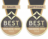 2019 best estate award for sales and lettings medals