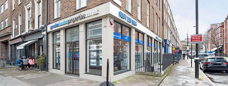 GLP Estate Agent Bloomsbury Shop front