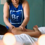 woman getting a massage - showing the best spas in London