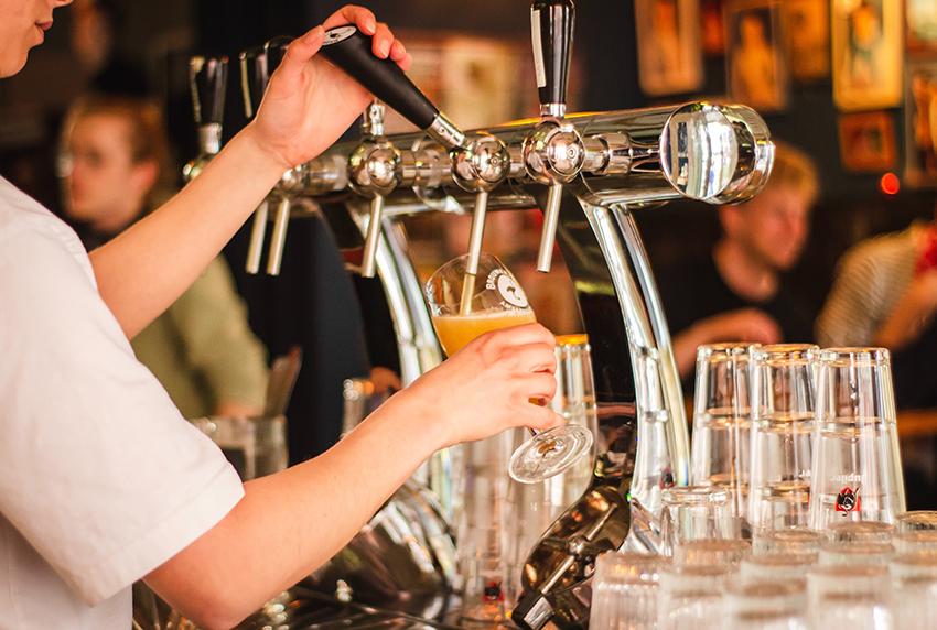 Bar in pub crawl London