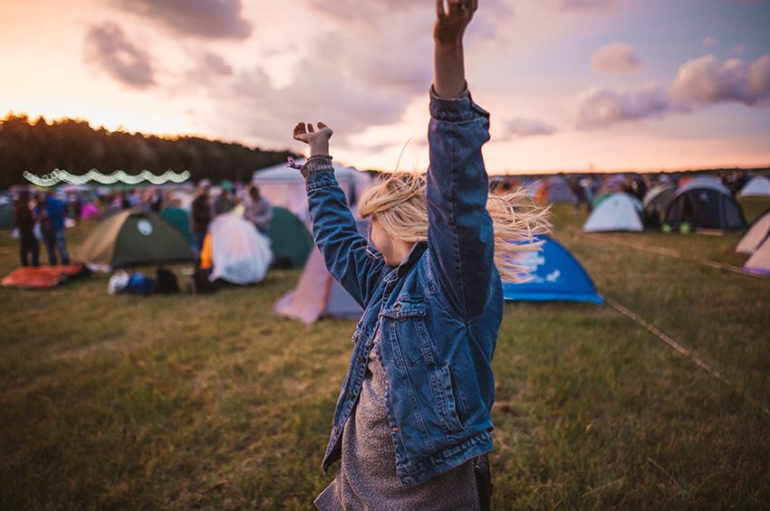 Girl dancing at Music Festivals in London 2019