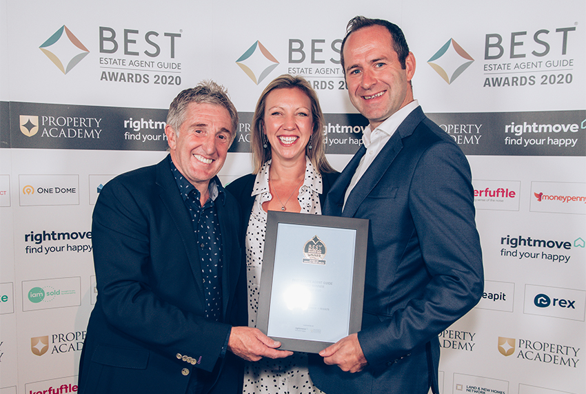 Award Winning London Estate Agents collecting award